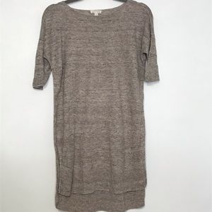 Eileen Fisher tunic dress 100% linen tan x small